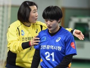 여자핸드볼 인천시정 오영란 160304