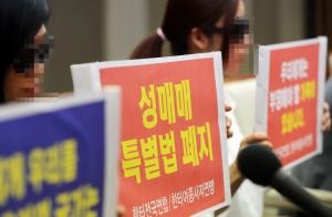 '헌재 성매매 특별법 합헌 판결' 반대 기자회견