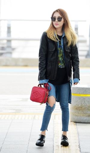 투애니원 산다라박 인천국제공항 출국