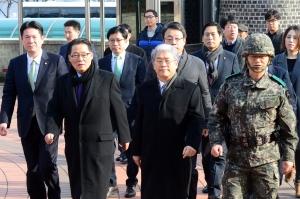 국민의당 오두산 전망대-백마부대 안보점검
