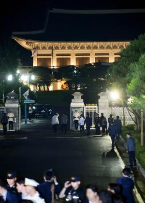청와대 앞길 한밤 산책