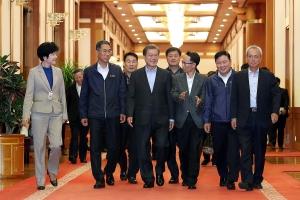 문재인 대통령, 노동계 대표들과 만찬