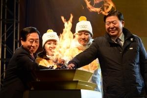 하희라-최수종 평창동계올림픽 성화봉송