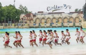캐리비안 베이 수상 구조 교육