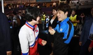 2018 코리아오픈 국제탁구대회 남북단일팀 혼합복식 결승