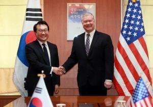 한미 북핵수석대표 협의 참석한 스티븐 비건