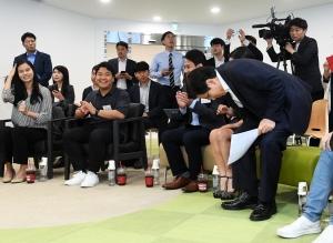 청년창업가와 만난 황교안 자유한국당 대