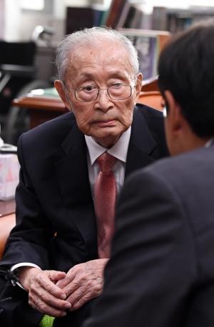 황교안 대표 백선엽 장군 예방