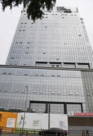 빅히트 엔터테인먼트 용산 신사옥 건설 현장