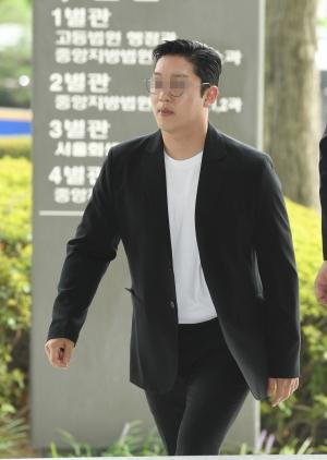 법원 출석하는 구하라 전 남친 최종범
