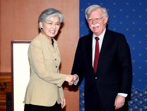 존 볼턴 미 보좌관 외교부 방문