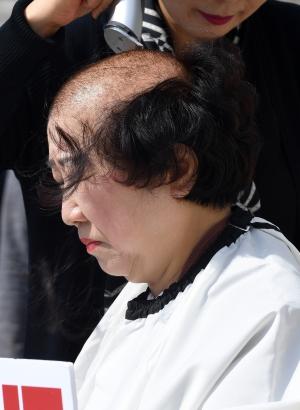 박인숙 자유한국당 의원 삭발