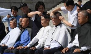 자유한국당 삭발 릴레이