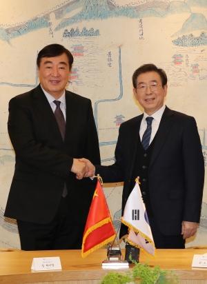박원순 시장 싱 하이밍 신임 중국대사 면담