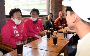 유승민 경기 수원을 정미경 지원유세