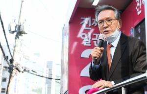 광진을 미래통합당 오세훈 후보, 자양사거리 앞 유세