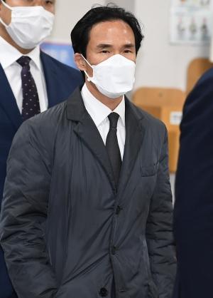 조현범 1심 선고 재판 출석