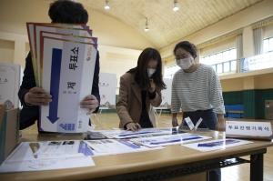 청운초등학교 본 투표소 설치