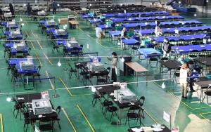 4.15 총선 대구체육관 개표소 준비