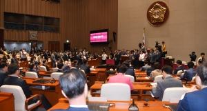 통합당, 한국당과 합당 후 첫 당선인 총회