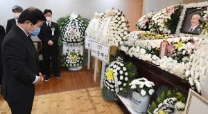 홍사덕 전 국회부의장 별세, 빈소 찾은 정치인들