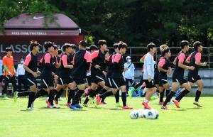19세 이하(U-19) 축구 국가대표팀 훈련