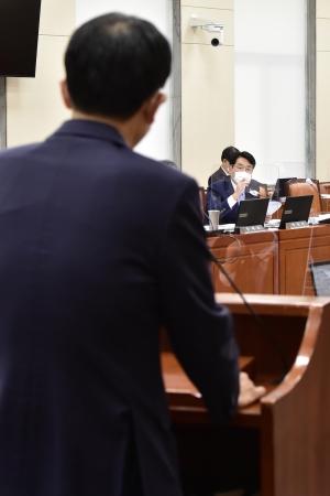 국감 출석한 장석훈 삼성증권 사장