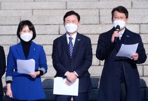 국회 찾은 민주당 부산시장 후보들