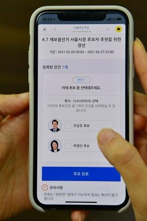 민주당 경선 권리당원 온라인 투표
