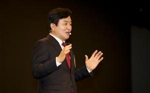 김종인, 원희룡 지지모임 희망오름 출범식 참석