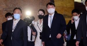 국민의힘 사무처 직원들 만나는 윤석열