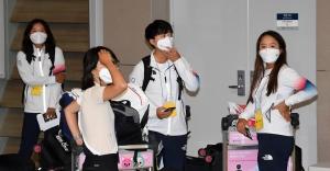 도쿄올림픽 대표팀 귀국