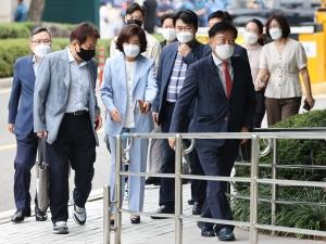 패스트트랙 충돌 공판 출석한 전 자유한국당