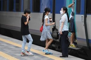 추석연휴 고향 앞으로 행하는 시민들